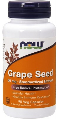 Grape Seed 60 мг 90 капсул Now
