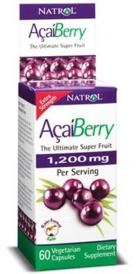 AcaiBerry Extra Strength 60 капсул по 1200 мг Natrol