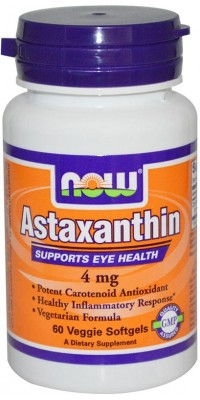 Astaxanthin 4 мг 60 капсул Now