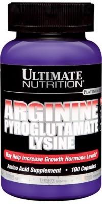 Arginine Pyroglutamate Lysine 100 капсул Ultimate Nutrition