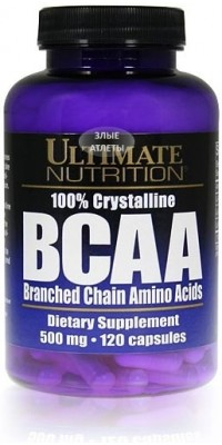 100% Crystalline BCAA 120 капсул Ultimate Nutrition