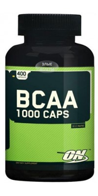 BCAA 1000 400 капсул Optimum Nutrition