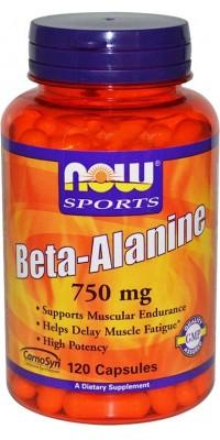 Бета-аланин Beta-Alanine 750 мг 120 капсул Now
