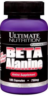 Бета-аланин Beta Alanine 750 мг 100 капсул Ultimate Nutrition