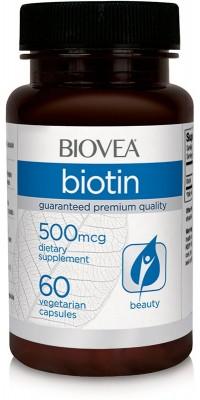Biotin 500 мкг 60 капсул BIOVEA