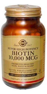 Biotin 10000 мкг 120 капсул Solgar