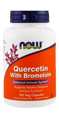 Quercetin With Bromelain 120 капсул Now