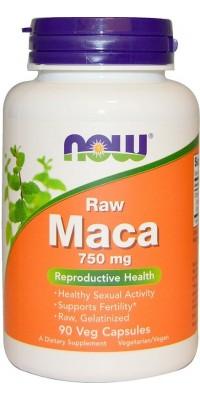 Maca 750 мг (raw) 90 капсул Now