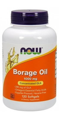 Borage Oil 1000 мг 120 гелевых капсул Now