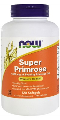 Super Primrose 120 гелевых капсул Now