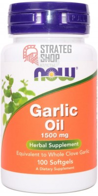 Garlic Oil 1500 мг 100 капсул Now