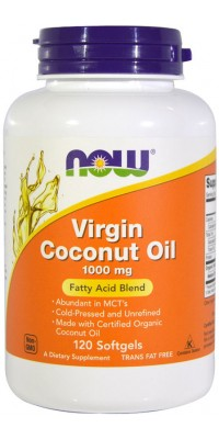 Virgin Coconut Oil 1000 мг 120 гелевых капсул Now