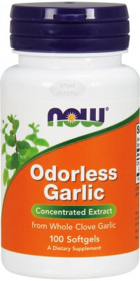 Odorless Garlic 100 капсул Now