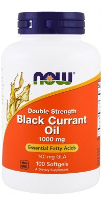 Black Currant Oil Double Strength 1000 мг 100 гелевых капсул Now