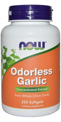 Odorless Garlic Extract 240 гелевых капсул Now
