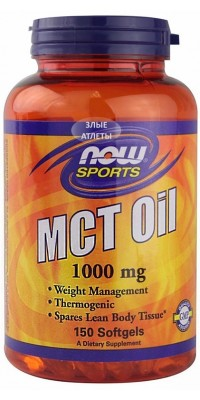 MCT Oil 1000 мг 150 капсул Now