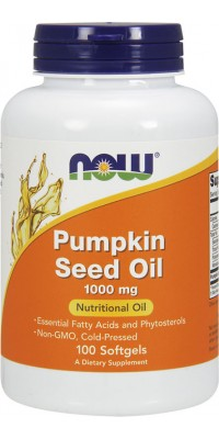 Pumpkin Seed Oil 1000 мг 100 гелевых капсул Now