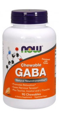 GABA 250 мг 90 жеват. таблеток Now