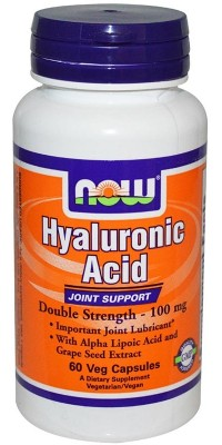 Hyaluronic Acid 100 мг 60 капсул Now