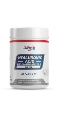 Hyaluronic Acid 425 мг 60 капсул GeneticLab Nutrition