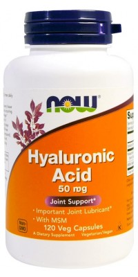 Hyaluronic Acid with Msm 50 мг 120 капсул Now