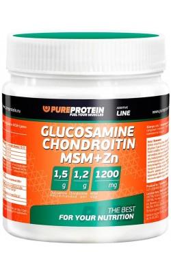 Glucosamine Chondroitin Msm + Zn 100 г PureProtein - купить за 430