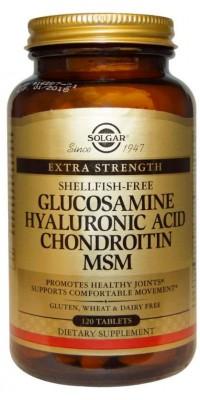 Glucosamine Hyaluronic Acid Chondroitin Msm 120 таблеток Solgar