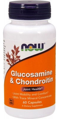 Glucosamine & Chondroitin With Trace Mineral 60 капсул Now
