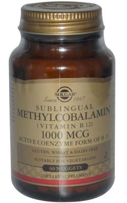 Витамин B-12 Methylcobalamin 1000 мкг сублингвальный 60 - купить за 760