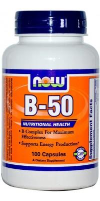 B-50 Комплекс витаминов Б 100 капсул Now