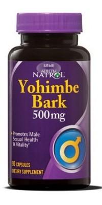 Yohimbe Bark 500 мг 90 капсул Natrol
