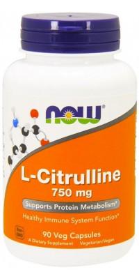 Цитруллин L-Citrulline 750 мг 90 капсул Now