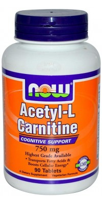 Acetyl L-Carnitine 750 мг 90 таблеток Now