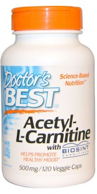 Acetyl-L-Carnitine 500 мг 120 капсул Doctor's Best