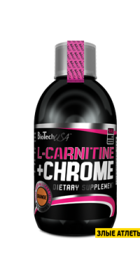 Liquid L-Carnitine + Chrome 500 мл BioTech USA