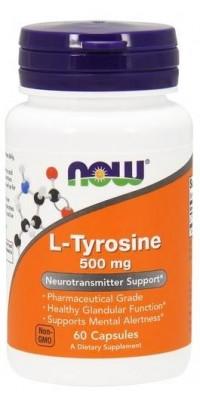 Тирозин L-Tyrosine 500 мг 60 капсул Now