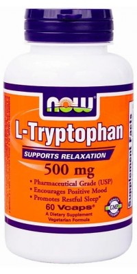 Триптофан L-Tryptophan 500 мг 60 капсул Now