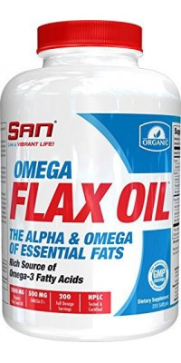 Omega Flax Oil 200 гелевых капсул SAN