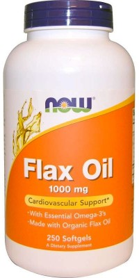 Flax Oil 1000 мг 250 гелевых капсул Now