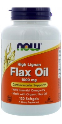 Flax Oil 1000 мг High Lignan 120 гелевых капсул Now