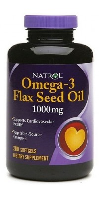Omega-3 Flax Seed Oil 200 капсул Natrol