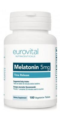 Melatonin 5 мг Time Release 100 таблеток EuroVital