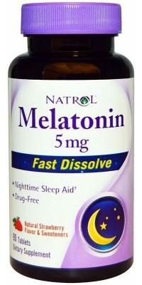 Melatonin 5 мг быстрорастворимые 90 таблеток Natrol