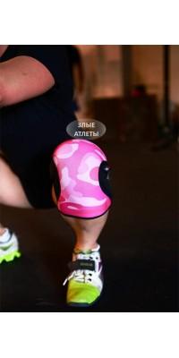 KneeCaps Наколенники 5 мм Розовый камуфляж Rocktape