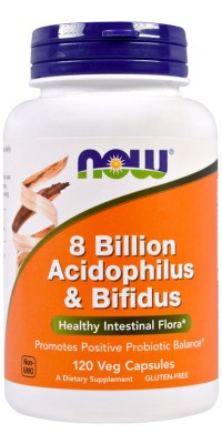 8 Billion Acidophilus & Bifidus 120 капсул Now