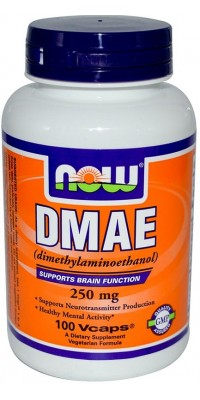 Dmae 250 мг 100 капсул Now