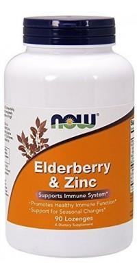 Elderberry & Zinc 90 пастилок Now