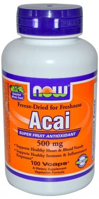Acai 500 мг 100 капсул Now