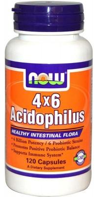 Acidophilus 4x6 120 капсул Now