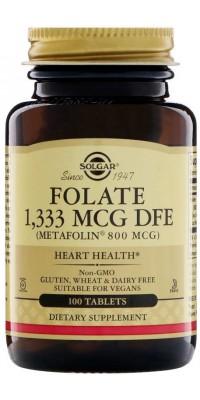 Folate 800 mcg 100 таблеток Solgar